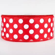 pink polka dot ribbon 2 5 big polka dot ribbon white 50 yards rg558924