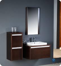 fresca mirano wenge brown modern bathroom vanity