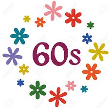 60s design 60s flower power retro style design illustration royalty free