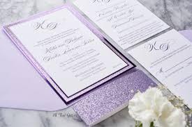 lavender wedding invitations katherine foil and glitter wedding invitation all that
