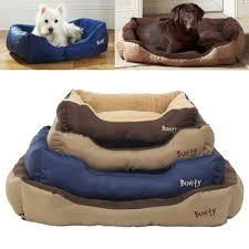 Washable Dog Beds Bunty Deluxe Soft Washable Dog Pet Warm Basket Bed Cushion With