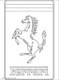 ferrari logo coloring pages coloring pages car logos