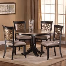 hillsdale 5 piece round dining table set with parson