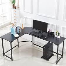 Corner Gaming Desk L Shape Corner Computer Gaming Desk Wood Steel Laptop Table