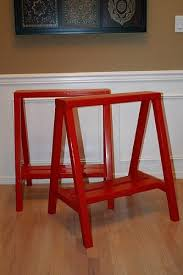 ana white bright red sawhorses diy projects