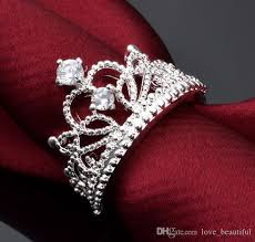 beautiful diamond rings images Beautiful princess jewelry plating s925 sterling silver crown jpg