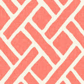 Pink Trellis Curtains Trellis In Light Coral Linen Fabric Willowlanetextiles