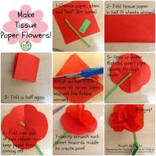 tissue paper flowers printable instructions 7 steps for making tissue paper flowers mundo de pepita