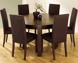 modus bossa 6 piece round dining room set in dark homelegance