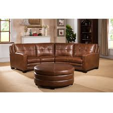 Leather Sectional Sofa With Ottoman by Del Mar Top Grain Leather Sectional
