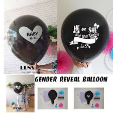 gender reveal balloons gender reveal black balloon it s a girl boy confetti xl pink blue