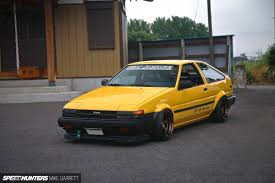 yellow toyota the next level ae86 speedhunters
