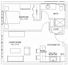 1 bedroom home floor plans 48 beautiful photos of 1 bedroom apartment floor plans home