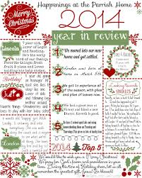 year in review christmas card christmas letter 2014 year in review printable day2day joys