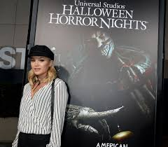 olivia holt at halloween horror nights opening in universal city