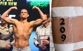 jon anik got a u0027209 u0027 tattoo after predicting nate diaz would lose