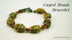 copper bead bracelet images Caged in copper bead bracelet video tutorial jpg