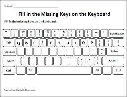 printable missing letters quiz learning the computer keyboard layout fill in the missing letters