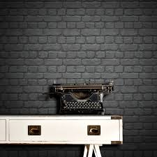 rasch brick wallpaper black decorating diy