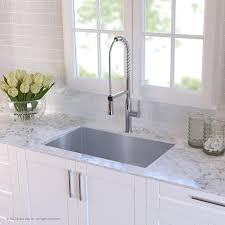 kraus khu100 32 32 inch 16 gauge undermount single bowl stainless kraus khu100 32 32 inch 16 gauge undermount single bowl stainless steel kitchen sink amazon com