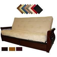 queen futon sofa bed lexington microfiber suede inner spring queen size futon sofa bed