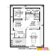House Elevation Dimensions by House Plan For 36 Feet By 45 Feet Plot Plot Size 180 Square Yards