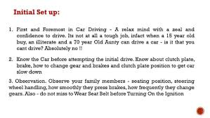 tips for driving a new car car driving tips beginners time drivers and new car b