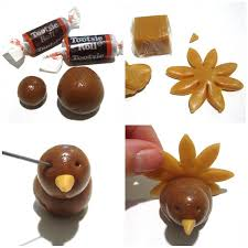 tootsie roll caramel thanksgiving cupcake toppers lindsay bakes