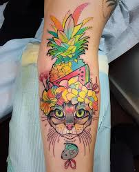 katie shocrylas psychedelic tattoos in exquisite thin lines and