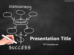 Free Brainstorming Success Chalk Hand Black Ppt Template Educational Powerpoint Themes