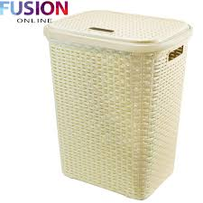 Wicker Clothes Hamper With Lid 37 Colored Hampers Laundry Baskets Water Hyacinth Round Hamper