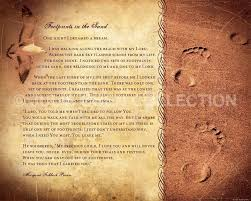 Spiritual Home Decor Footprints Poem Christian Gift Religious Home Decor