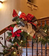 How To Decorate Banister With Garland Show Me Decorating Create Inspire Educate Decorate