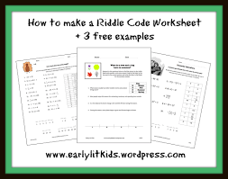 riddle worksheets earlylitkids