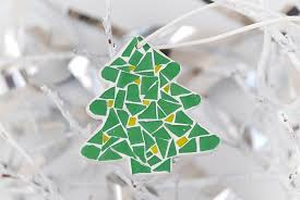 New Year Christmas Tree Decorations by Christmas Tree Mosaic Ornament Christmas Decor Tree Ornament