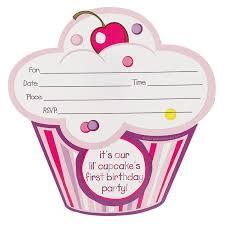 art birthday invitations u0027s lil u0027 cupcake 1st birthday invitations birthdayexpress com