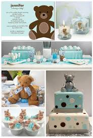 teddy centerpieces for baby shower baby shower ideas orange creamsicle decoration and babies