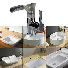 Bathroom Waterfall Faucet Led Steel Sink Copper Bathroom Waterfall Faucet Lovdock Com