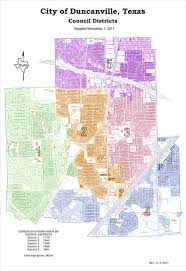 Texas Cities Map City Districts City Of Duncanville Texas Usa