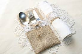 wedding silverware burlap silverware holders table decor rusticsilverware holders