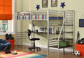 bunk beds full size metal loft bed with desk loft bed with