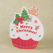 Mini Merry Christmas Card Greeting Card Cake Shape Cartoon