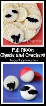 halloween snacks full moon cheese and crackers hungry happenings