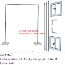 wedding backdrop stand 3m 3m wedding zincplated metal wedding backdrop stand drap stand