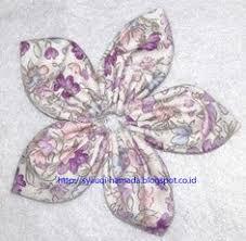 membuat kerajinan bros cara membuat bros bunga lancip dari kain perca kerajinan tangan