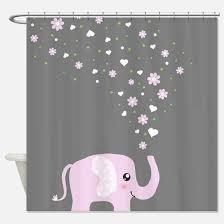 Gray Shower Curtain Liner Gray Elephant Shower Curtains Gray Elephant Fabric Shower