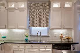 awesome kitchen window treatment and brown curtain 4738