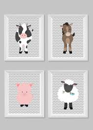Sheep Nursery Decor Farm Nursery Farm Decor Cow Pig Sheep