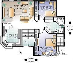 Split Level House Plan Multi Family Plan W3322b Detail From Drummondhouseplans Com