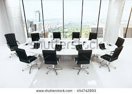 3d rendering empty conference room office stock illustration